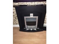 Black (painted) electric fireplace