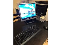 Monitor, keyboard and mouse