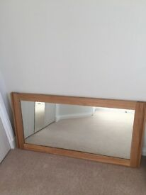 Solid oak wall mirror brand new