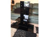 Black Glass Modern TV Stand
