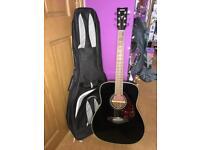 Yamaha FG720S Black Acoustic Guitar + Gig Bag