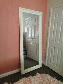 Large full length white mirror, 1.9m tall