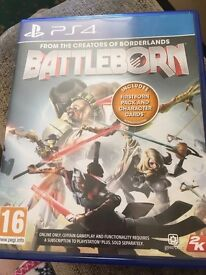 Battleborn PS4 Game!! practically NEW