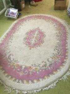 Pink/Arctic Oval Rug