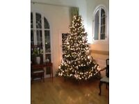 Luxury 10 foot Christmas Tree; come in 3 parts; very realistic; cost £600 new.