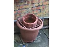 Job lot plant pots for sale