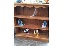 Solid pine book case,