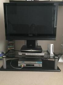 "Panasonic Viera tv 37"" and stand with 2 shelves"