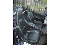 mx5 mk2.5 black heated leather seats.