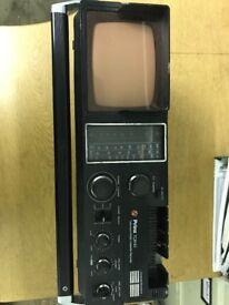 70s/80s Prinz TCR40 Radio/Cassette/T.V Combi