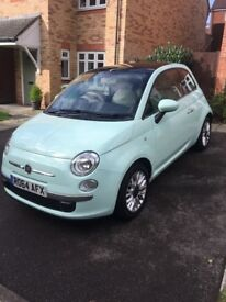 FIAT 500 1.2 Lounge - petrol/Manual - air con - start/stop - bluetooth