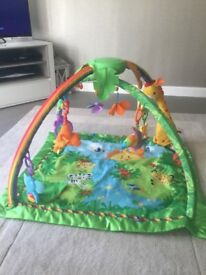 Fisher Price rainforest activity mat and bouncy chair