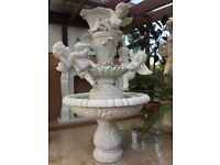 Marble fountain hand carved in marble, natural stone, very fancy, new