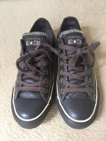 Leather Converse All-star Trainers, UK size 6, £25