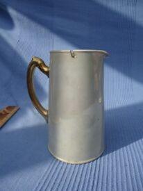 High Lustre 'vintage' blue coffee pot with metal lid.