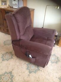 Easy chair with footrest