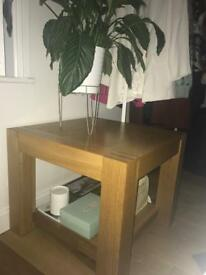 Solid wood side table coffee table