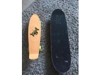 2 used skateboards
