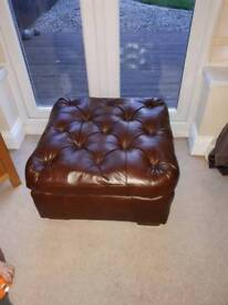 Large real leather foot stool
