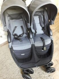 Britax grey double pram