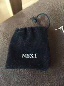 Silver drop earrings from next