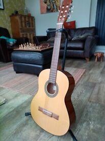 admire alba 3/4 classical guitar with bag