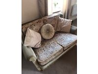 Comfortable Sofa and chair and assorted cushions free to collect