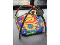 Bright Starts Baby Mat w/ cuddly toy and mirror - excellent condition