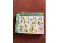 MARKS & SPENCER 1000 PIECE JIGSAW PUZZLE-GARDEN BIRDS THROUGH THE SEASONS