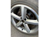 AUDI A5/A7 ALLOYS AND NEARLY NEW TYRES