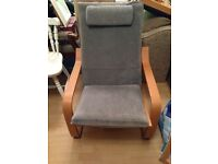 Poang chair in grey