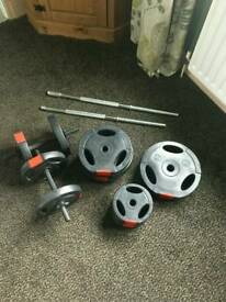 Weight bench and dunbell bars