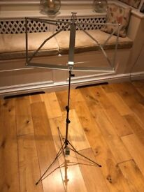 K&M Classic Folding Music Stand - Nickel - Hardly used - Excellent Condition