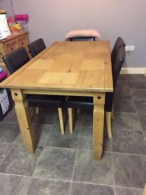 Mexican Pine 6 seater table