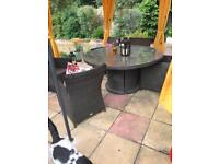 Outdoor 6 seater dining table and chairs