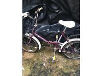 Vintage Raleigh stowaway 3 universal bike