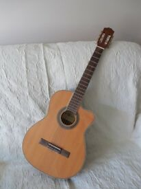 Classical guitar with pre-amp equaliser
