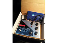 Vintage Electro Harmonix Deluxe Memory Man Chorus Delay Vibrato & EHX power supply Boxed U2 the Edge