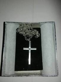 Silver Cross and Silver Chain