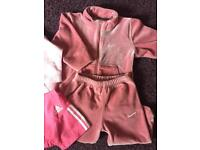 Baby Girls tracksuit and trainer bundle