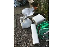 Toilet, washbasin set