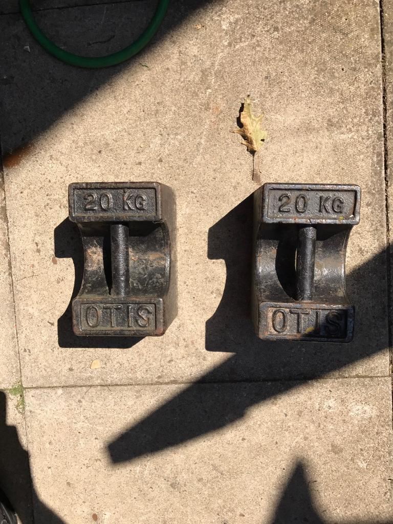 2 x 20kg weights