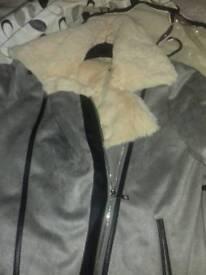 Papaya swede coat brand new