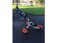 Clicgear 3.5+ Push Golf Trolley - White & Orange