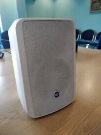 4 RCF speakers in white