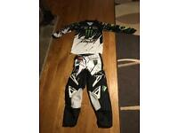 Thor monster energy motocross bottoms and top