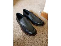 Size 10 Brand New Black Leather Moccasins