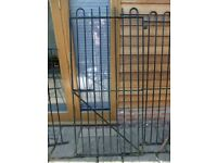 security gate and fence.