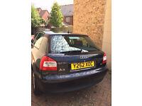 URGENT/REDUCED ***** Audi A3, 2001 (Y) Blue Hatchback, Manual Petrol, 97,500 miles