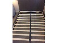 Scandi double bed & memory foam mattress